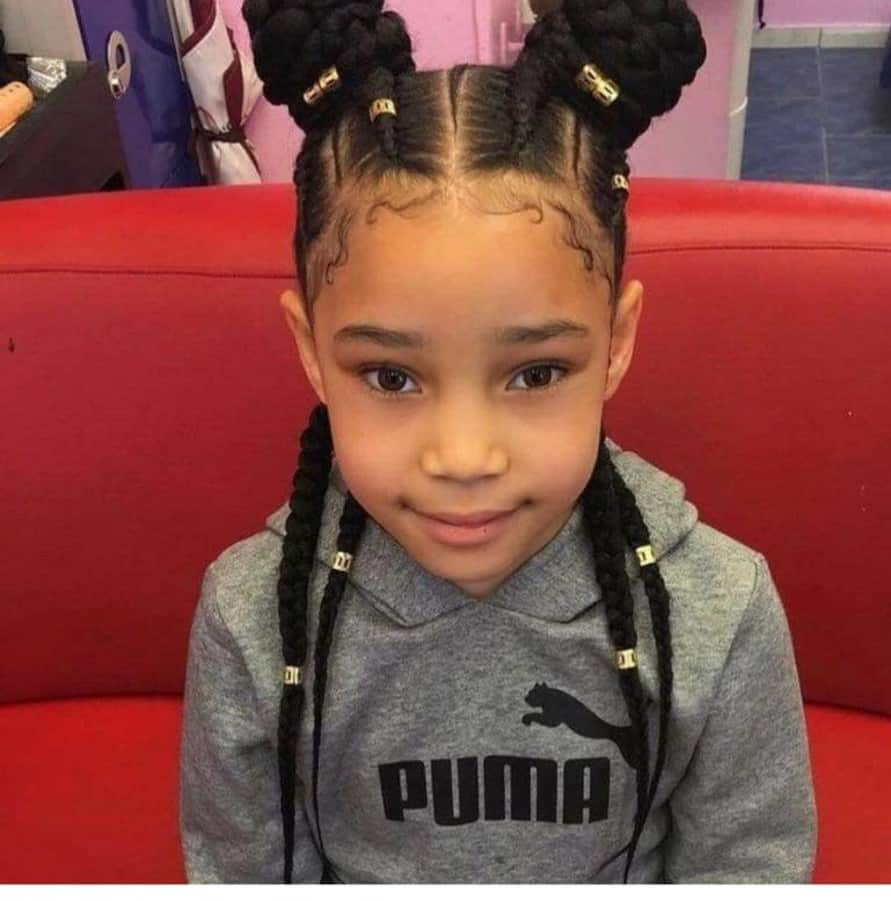 Groovy Best 25 Beautiful African Braids For Kids In 2019 Yen Com Gh Natural Hairstyles Runnerswayorg