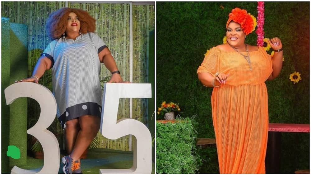 Actress Allwell Ademola celebrates 35th birthday 4 years in a row