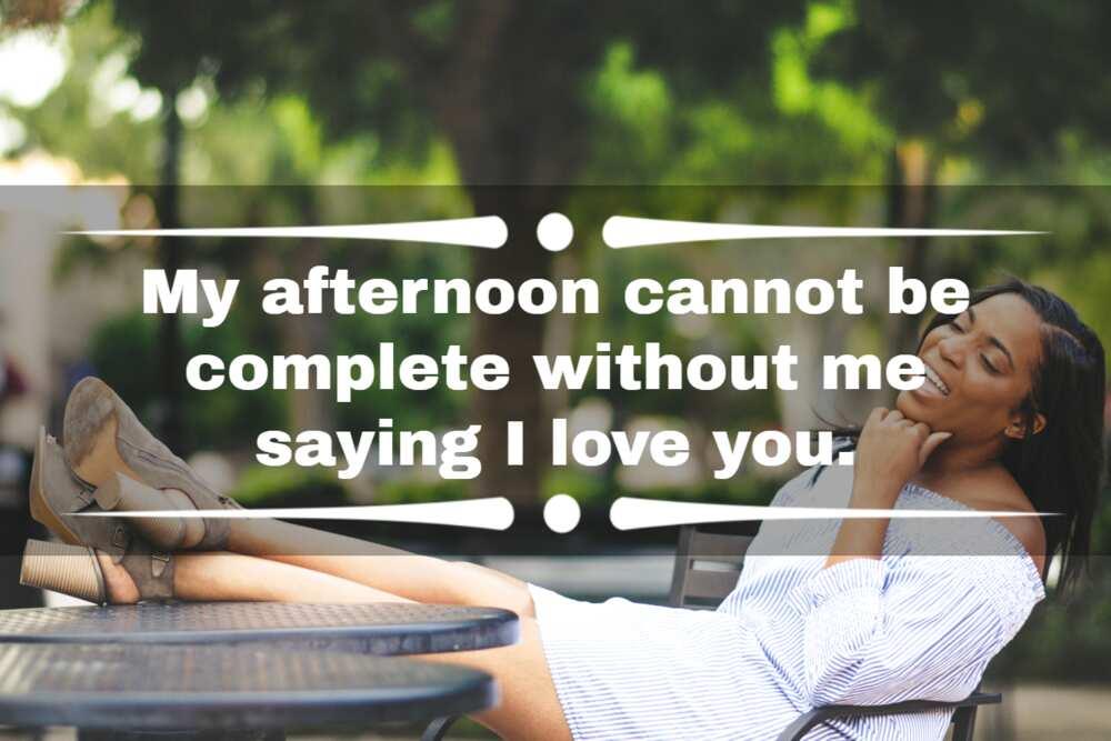 selamat siang pesan cinta