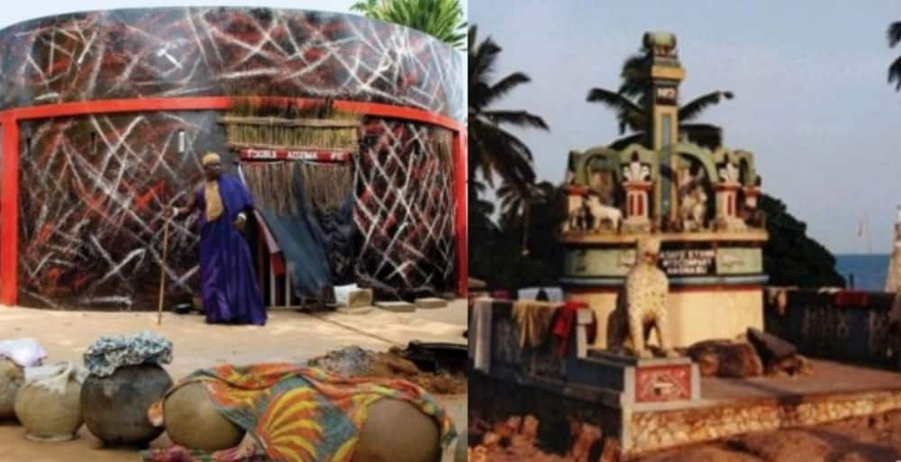 Local juju man speaks; mentions kind of Ghanaian musicians who visit for power