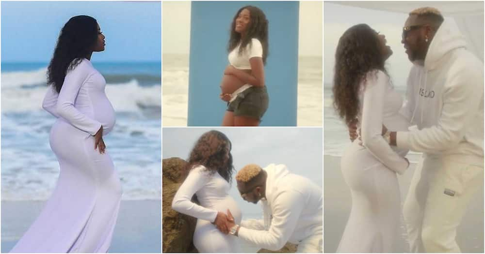 Fella Makafui relocates after giving birth to her daughter (video)