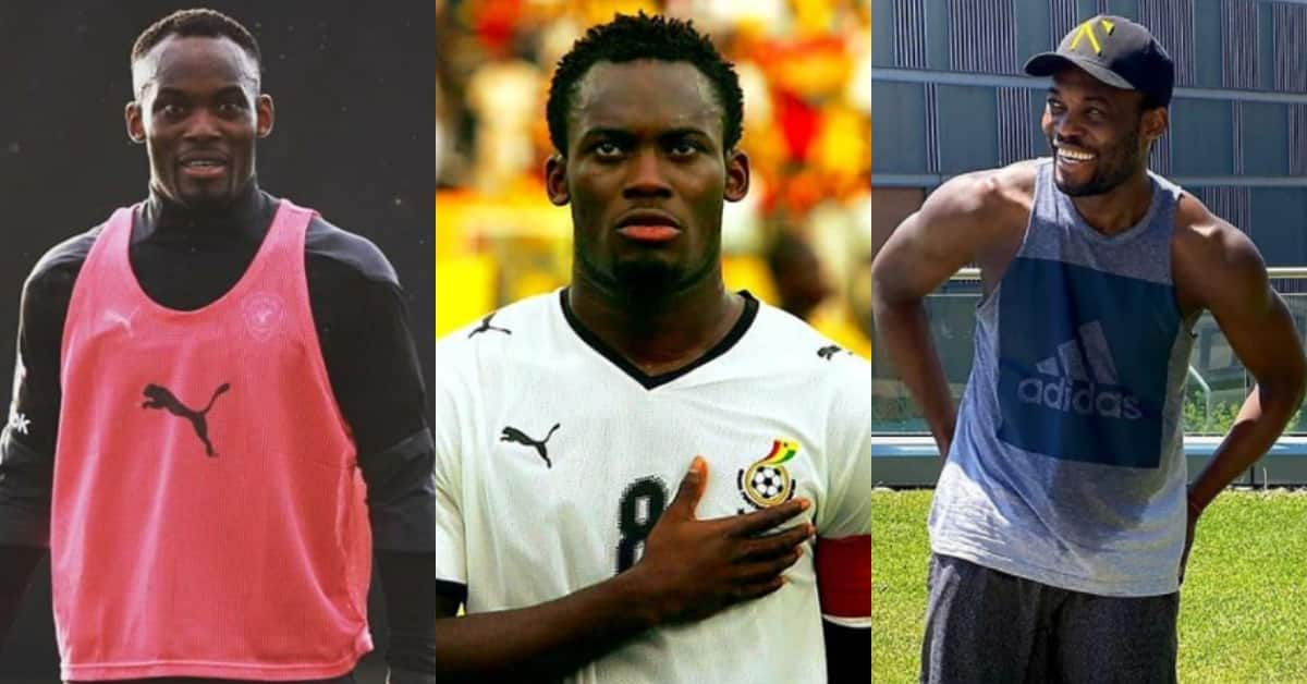 Essien shuns critics; drops 1st ever family photo proving he is not gay