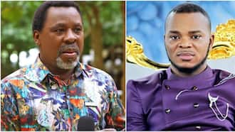 We are here to condolences you - Obinim goofs in video message to TB Joshua's wife