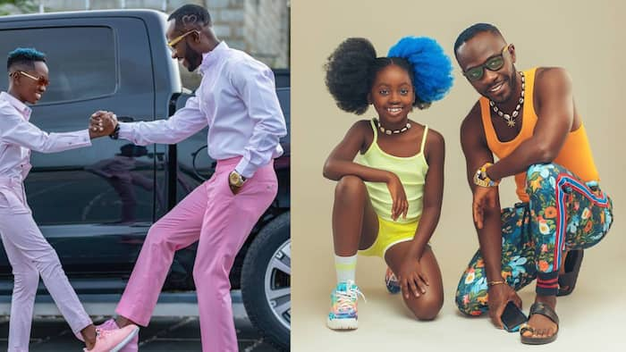 10 father and children moments that would make you admire Okyeame Kwame and his family