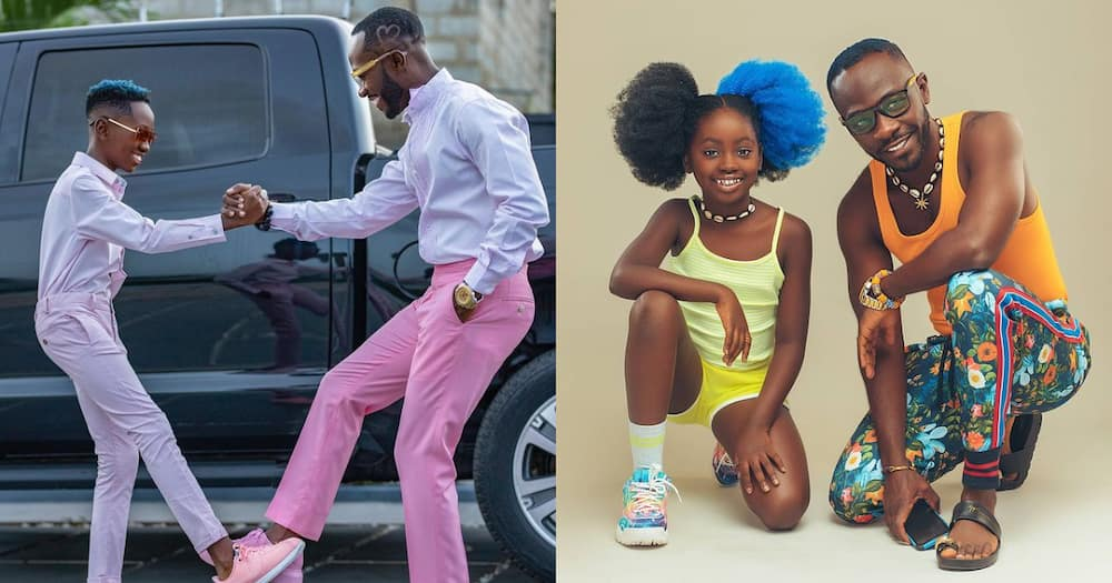 Okyeame Kwame: 10 Heartwarming Father and Children Moments of Rapper and kids