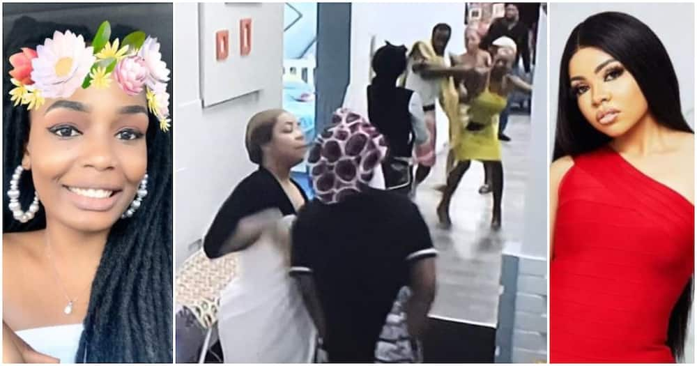 BBNaija Lockdown: Fans react to Kaisha and Nengi's fight as Lucy stops others housemates from interfering