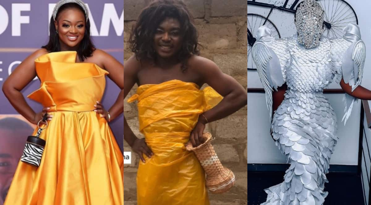 Photo of Ghanaian model's remake of Nana Akua's outfit for Glitz blows minds