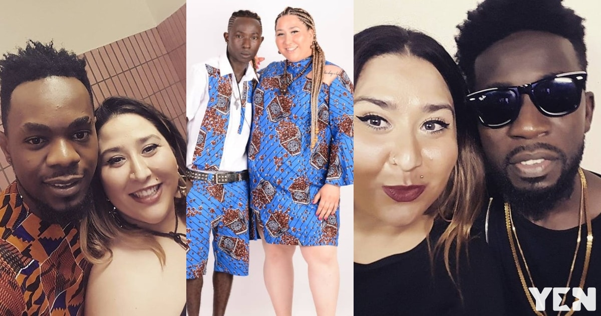 Photos showing top Ghanaian and Nigerian artistes who have already dated Patapaa's white girlfriend pop up