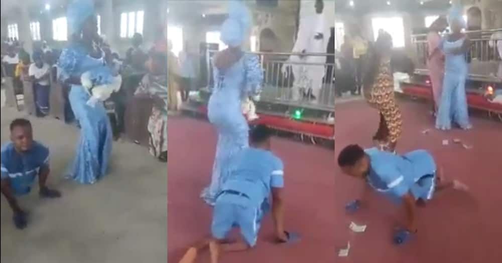 Joy as physically challenged man and wife dance to offer thanks in church after welcoming a child