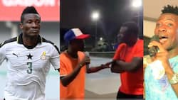 Video drops as young rapper wows Asamoah Gyan with his freestyle
