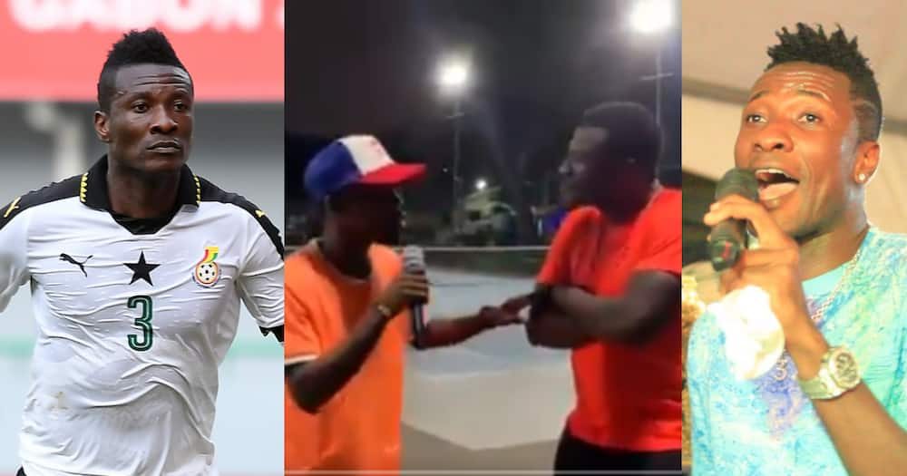 Ghana legend Asamoah Gyan stunned by a young musician during his tennis session