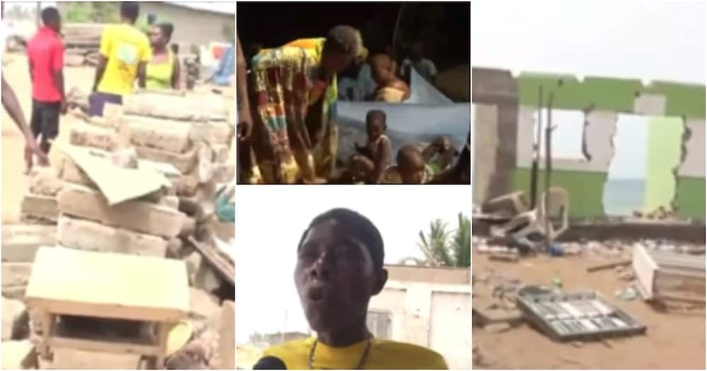 V/R: Residents of Salakope and Amutsinu homeless after tidal waves destroyed their homes