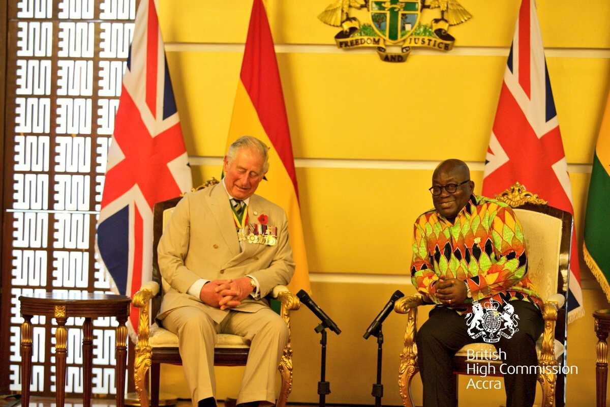 4 wild photos of British Royals arrivals in Ghana