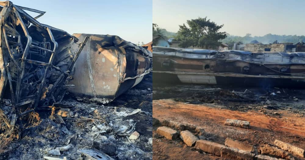 Village burnt to ashes after fuel tanker explodes; 3 charred to death