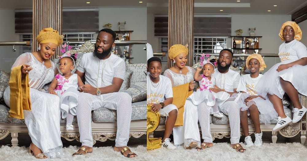 Joys of motherhood: McBrown shows off her 5 adorable kids in lovely family photo