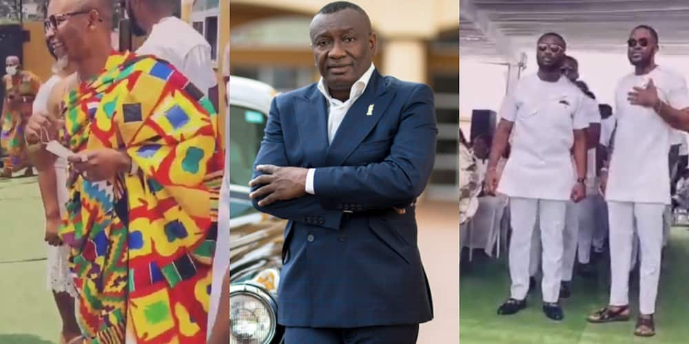 Osei Kwame Despite's sons steal show at Dr Ernest Ofori Sarpong's daughter's wedding (video)