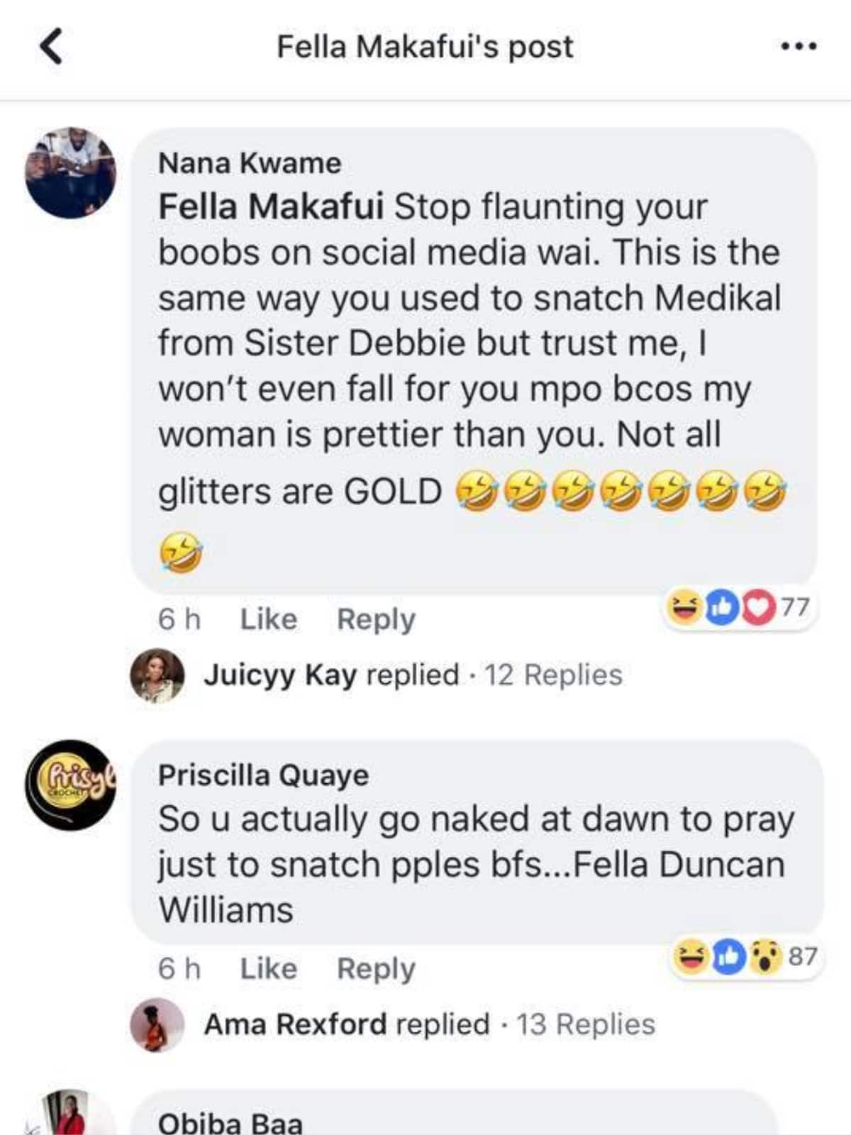 Social Media users descend heavily on Fella Makafui for snatching Medikal from Sister Derby
