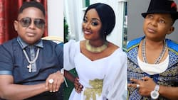 Kumawood actor Wayoosi flaunts his beautiful girlfriend for the 1st time as he preaches peace (photos)