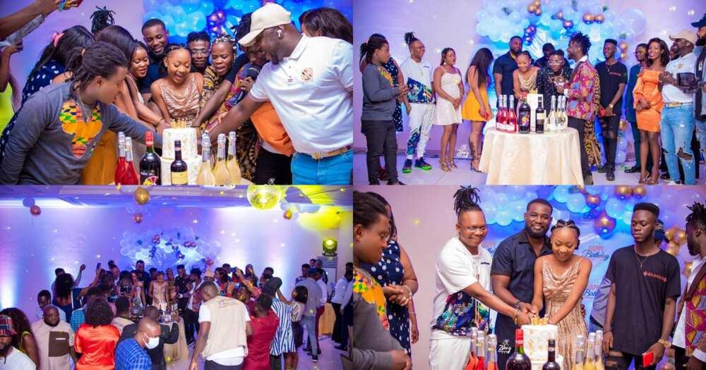 Akuapem Poloo Celebrates 32nd Birthday; Osebo, Ohemaa Woyeje, Tonardo, Other Stars Throng Surprise Party