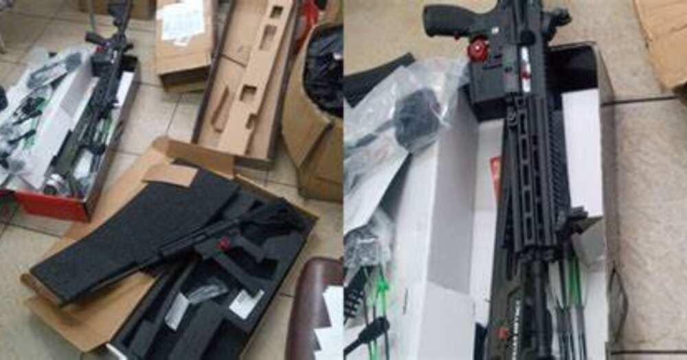 Assault rifles intercepted at Tema Port