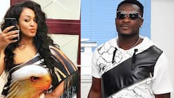 Asamoah Gyan and his beautiful 'girlfriend' step out for the 1st time after divorce saga; photo drops