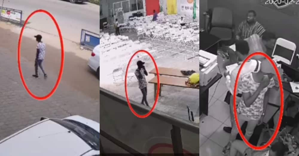 GH Media School: Smart campus thief who is an expert at stealing phones & laptops recorded on CCTV