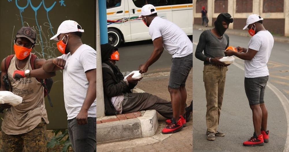 Joburg man is being praised after he spent his birthday feeding the homeless