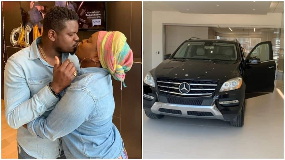 Man gifts his wife a multi-million naira Mercedes ride as push gift