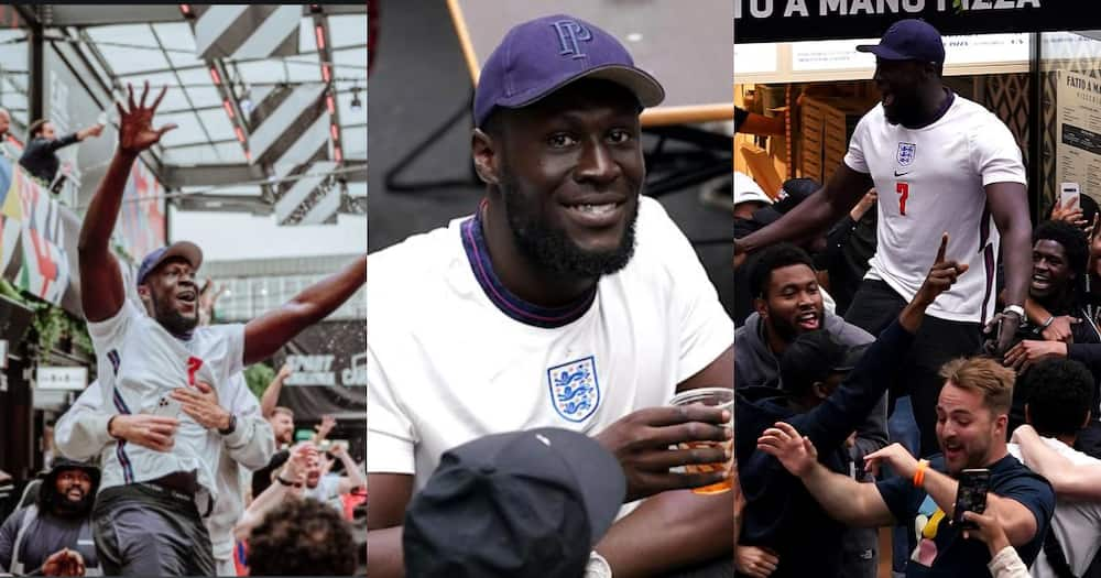 Stormzy joins England celebrations after knocking Germany out of Euro 2020