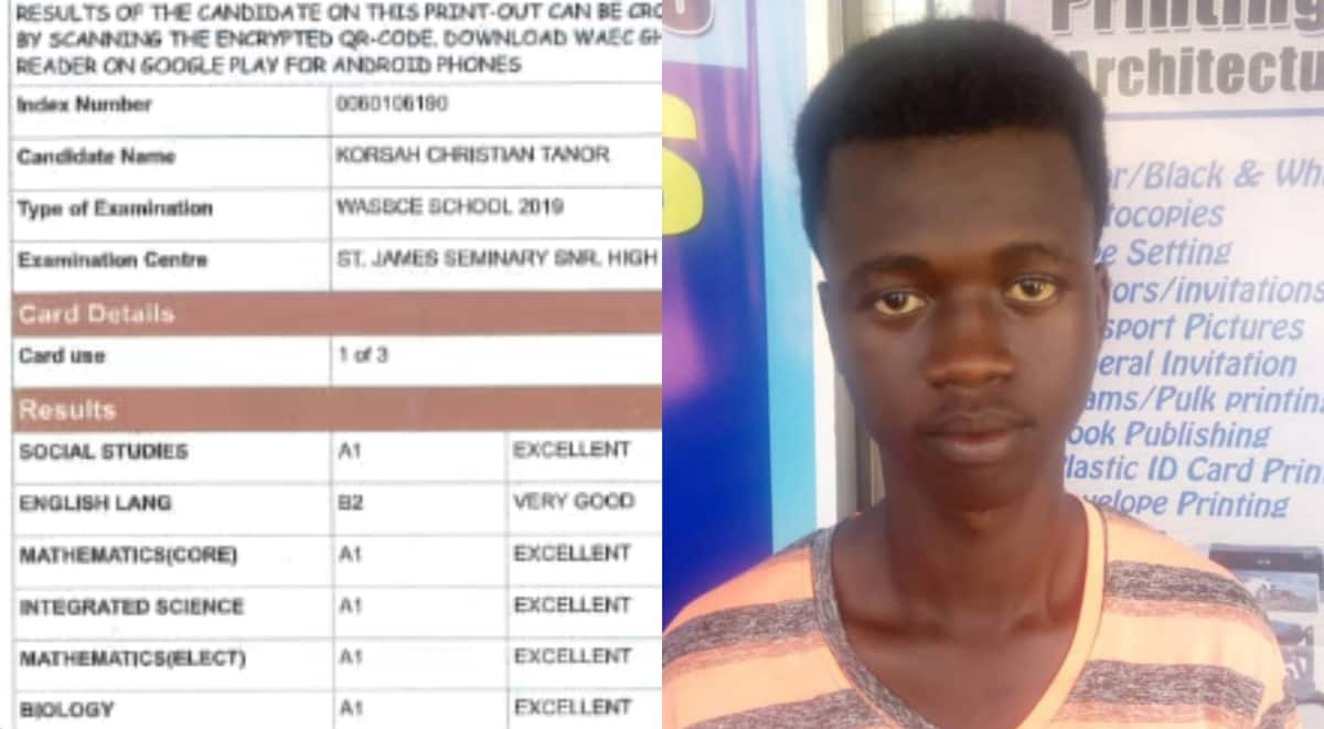 Brilliant SHS graduate with 7As and no GETFund support 'begs' for help to pay university fees