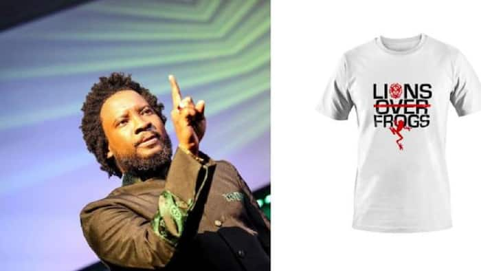 Degree saga: Sonnie Badu sells 'Lions Over Frogs' T-Shirts for GHC500 each