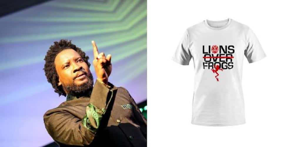Sonnie Badu sells Lions Over Frogs T Shirt for over 500 Cedis
