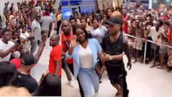Jackie Appiah causes massive traffic at African mall; everyone rushes to see her in new video
