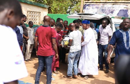 Anas joins hundreds as Ahmed Hussein-Suale is buried in Accra