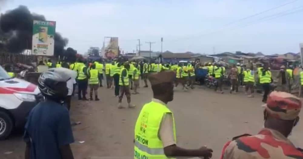 Gunshots Fired As Police Clash WIth Scrap Dealers At Agbogbloshie (Video)