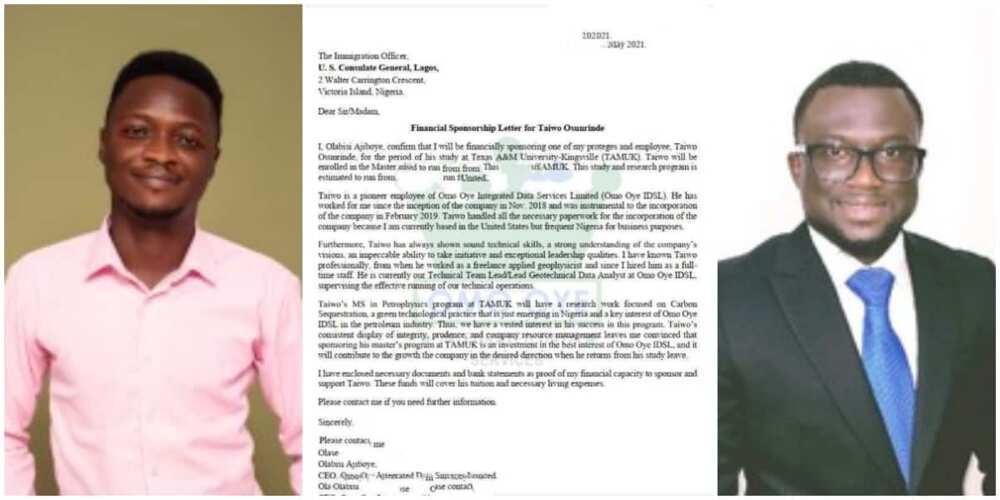 El graduado recibió fondos estadounidenses después de ayudar a un hombre estadounidense que conoció en línea en 2018 a iniciar un negocio en Nigeria.