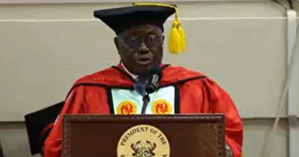 Akufo-Addo conferred with PhD at UCC; urged to build a hall to be named after him