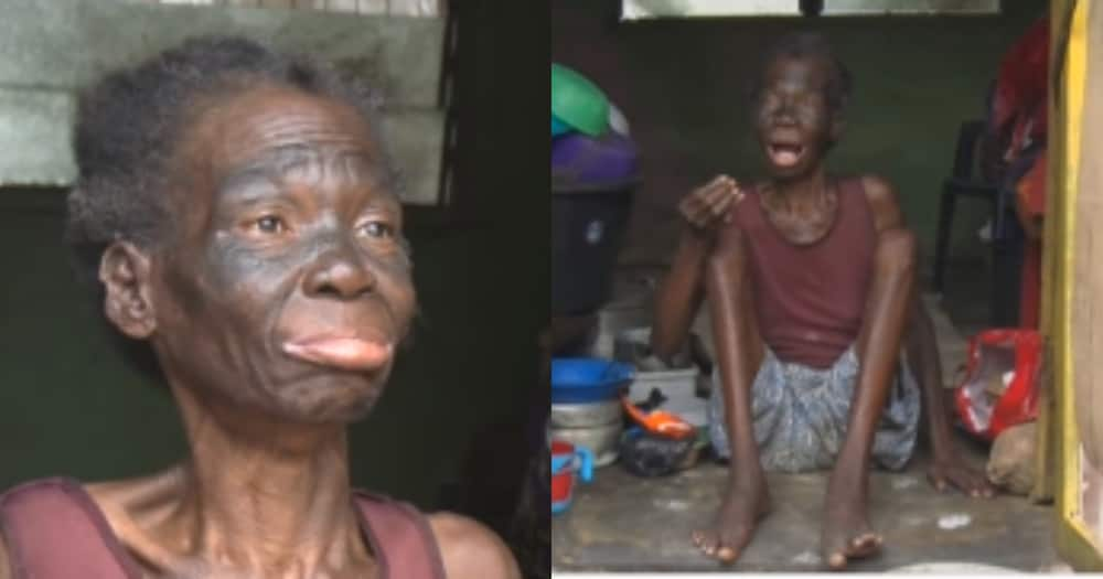 40-year-old crippled woman begs for help to care for her child with disability