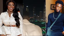 Money sweet: Jackie Appiah's son celebrates 16th birthday in Dubai; looks tall and big in new video