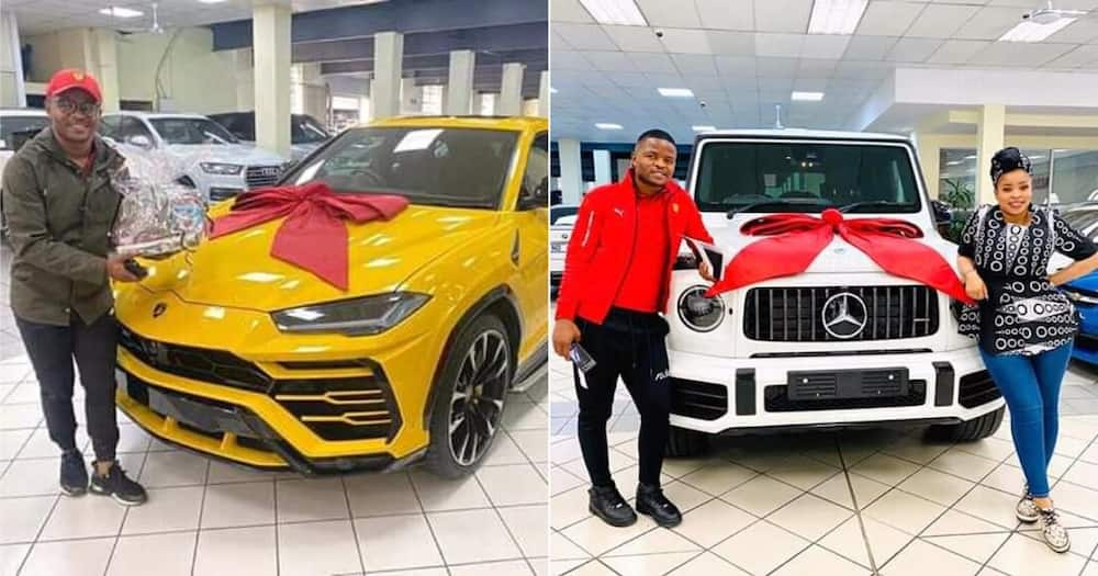 Exclusive: Durban power couple surprise each other with lux cars