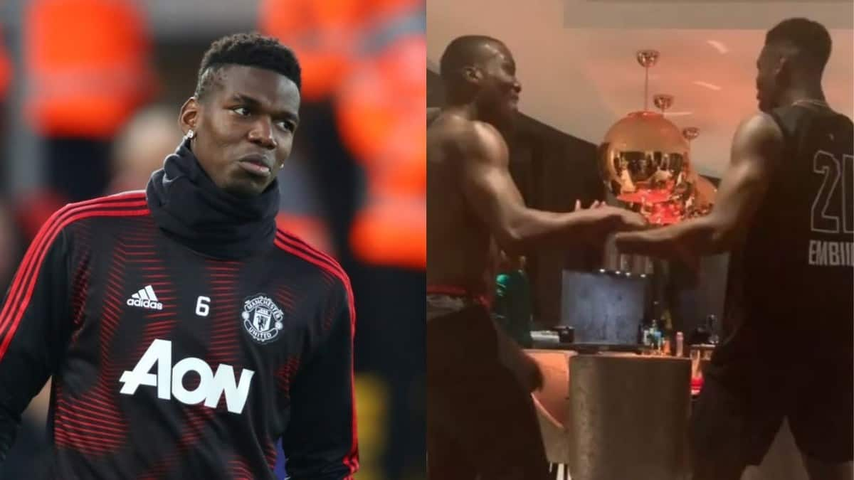 Pogba caught dancing with brothers to celebrate Christmas in style