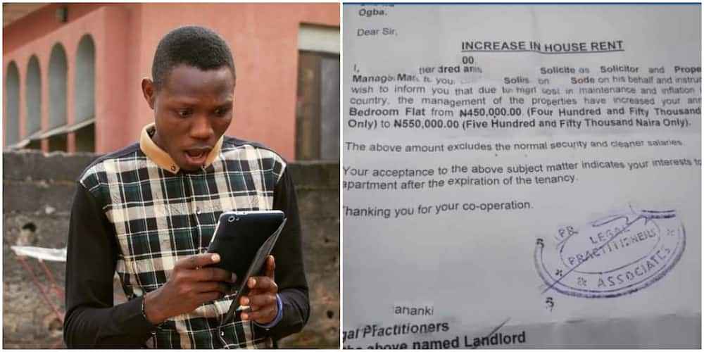 Nigerian Man Shares the Outrageous Letter He Got from His Landlord after a Post He Made Online, Causes Stir