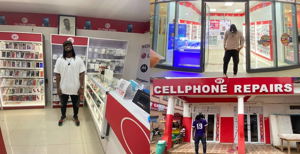 Meet the young man who owns massive phone repair shops at 5 locations in Ghana
