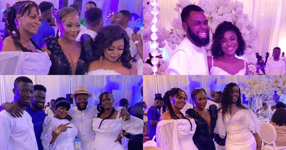 Obofour's triplets naming: Becca, Stonebwoy's wife, Schwar, Efya, Kwaku Manu, others attend (video)