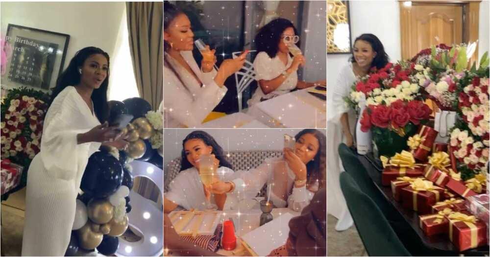 GHOneTV's Serwaa Amihere Holds Plush 31st Birthday With Nana Aba Anamoah, Sandra Ankobiah, Others (Videos)