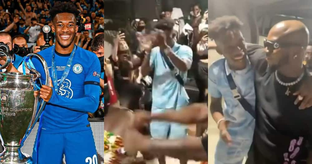 Callum Hudson-Odoi chills with King Promise in new video