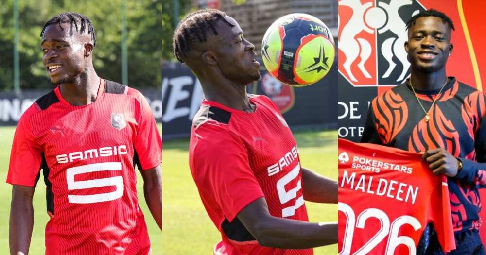 Stade Rennais new boy Kamaldeen Sulemana trains for the first time: photos drop