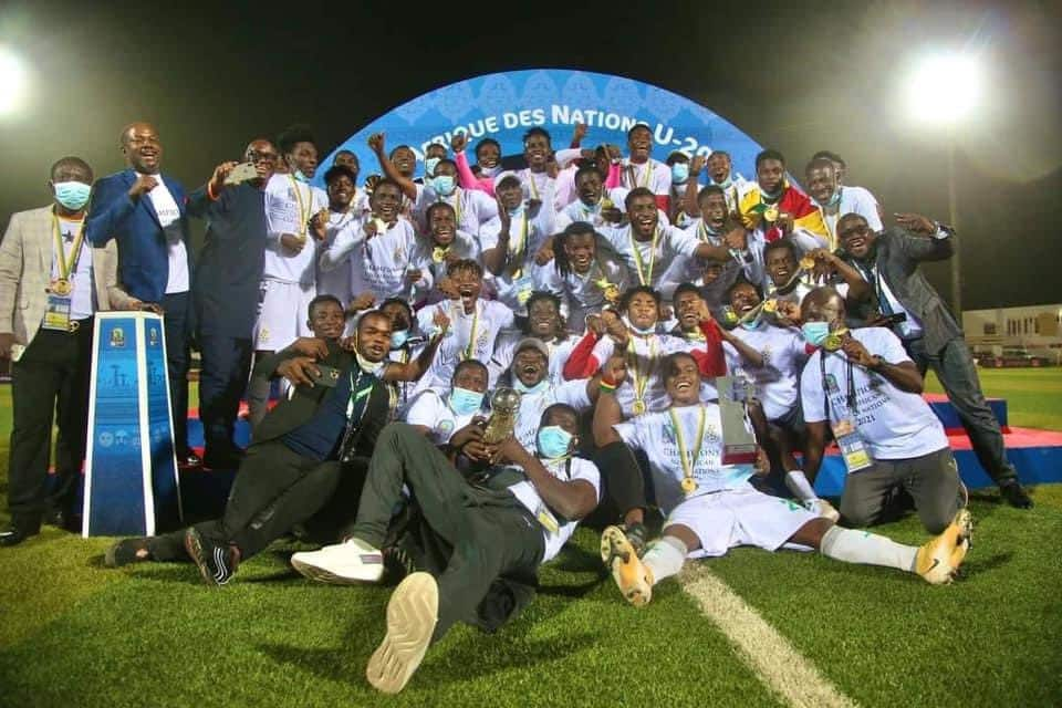 U-20 AFCON victory: Black Satellites touch down in Accra