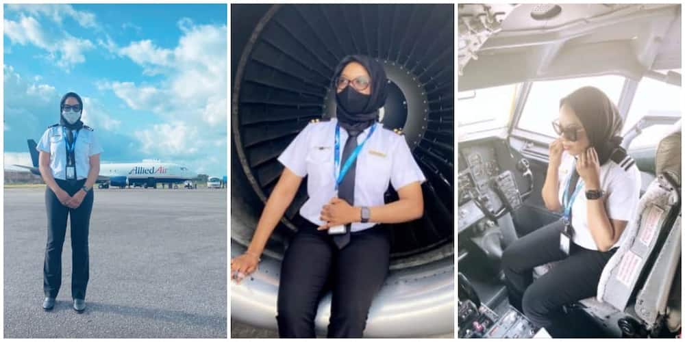 Maira Bashir El-Kanemi: Nigerian Woman who Started Flying Aircraft at 17 and Became a Qualified Pilot at 18