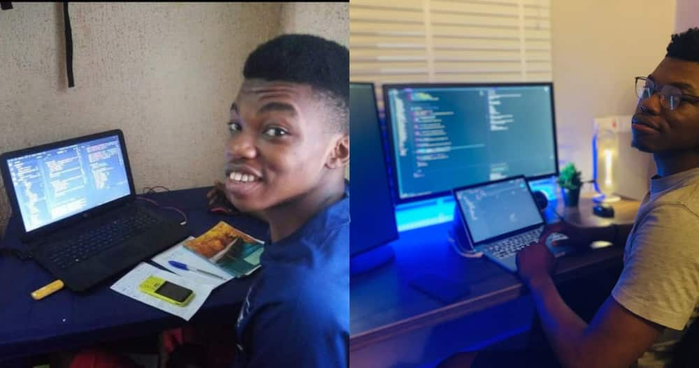 Young man who Started Coding in Single Room Flaunts his new Place After 3 Years